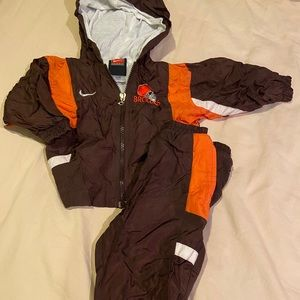 12 month boys nike cleveland browns outfit